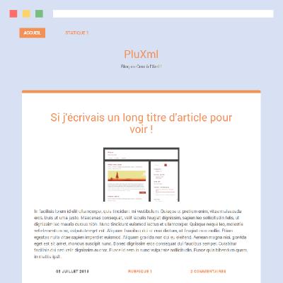 Thème PluXml : Simkle